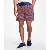 Montauk 6 Stripe Swim Trunks