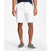 Striped Supima Cotton Oxford Shorts