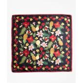 Tropical-Print Silk Square Scarf