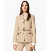Linen-Blend Safari Jacket