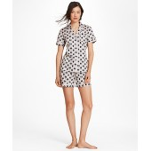 Daisy-Print Supima Cotton Poplin Pajamas