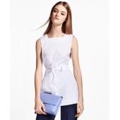 Square-Neck Stretch-Cotton Tunic