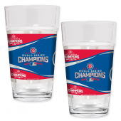MLB Chicago Cubs World Series Champions 16 oz. Pint Glasses (Set of 2)