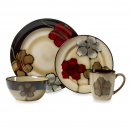 Pfaltzgraff Painted Poppies 16-Piece Dinnerware Set