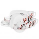 Corelle Kyoto Leaves 16-Piece Dinnerware Set