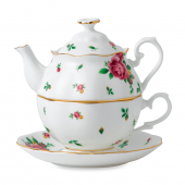 Royal Albert 3-Piece Tea Set for One in White Roses