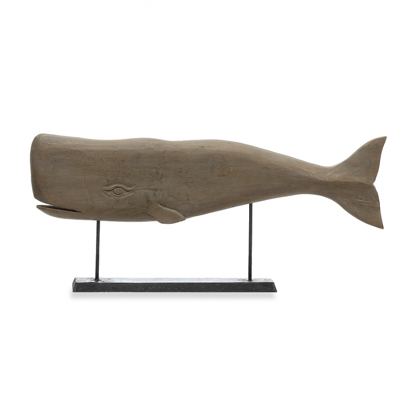 [망고] Mango Wood Carved Whale