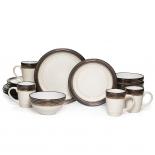 Gourmet Basics by Mikasa Bailey 16-Piece Dinnerware Set