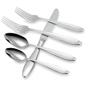 Wedgwood Oberon Flatware 5-Piece Place Setting