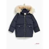 DOWN PUFFER JACKET WITH DETACHABLE FAUX FUR