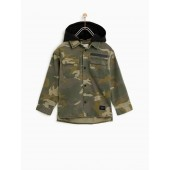 HOODED CAMOUFLAGE SHIRT