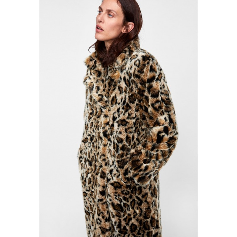 [자라] ANIMAL PRINT TEXTURED COAT
