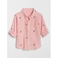 Bird Convertible Button-Down Shirt