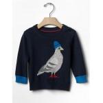 Intarsia pigeon sweater