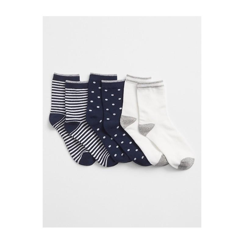 Print Crew Socks (3-Pairs)