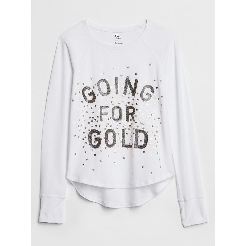 GapFit Kids Graphic Long Sleeve T-Shirt