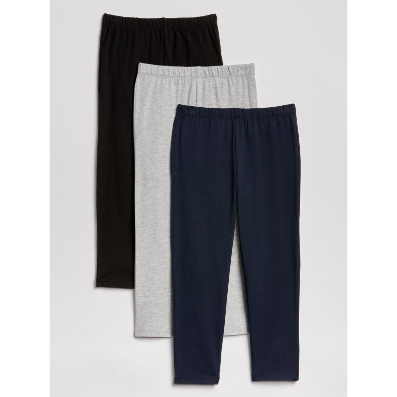Crop Leggings in Stretch Jersey (3-Pack)