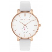 Womens Olivia Round Leather Strap Watch, 40mm