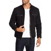 Comfortably Numb Suede Leather Moto Jacket