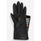 Basic Tech Cashmere Lined Leather Gloves