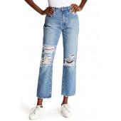 Original Distressed Straight Leg Jeans