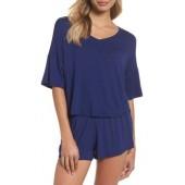 Rayon Tee & Woven Short Pajamas