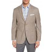 Trim Fit Check Wool & Cotton Sport Coat