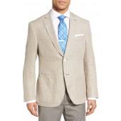 Trim Fit Wool & Linen Blazer