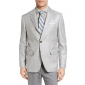 Monrad Trim Fit Plaid Wool Sport Coat