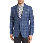 Sol Trim Fit Plaid Wool Blend Sport Coat