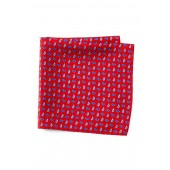 Reversible Silk Pine Pocket Square