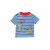 Striped License Plate Tee (Baby Boys)