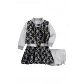 Star Lace Dress, Jacket, & Bloomer Set (Baby Girls)
