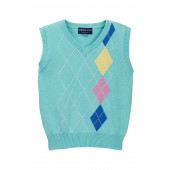 Mint Argyle Sweater Vest (Toddler Boys)