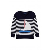 Sailboat Stripe Sweater (Toddler Girls)