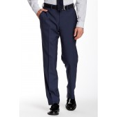Solid Worsted Wool Modern Fit Pants - 30-34 Inseam