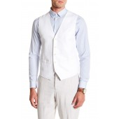 Linen Blend Regular Fit Twill Vest