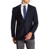 James Navy Two Button Notch Lapel Virgin Wool Sports Coat