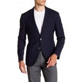 Raye Dark Blue Two Button Notch Lapel Virgin Wool Sport Coat