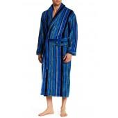 Printed Shawl Collar Robe