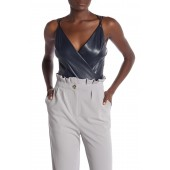 Estella Faux Leather String Bodysuit