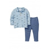 Raccoon Top & Pant 2-Piece Set (Baby Boys)