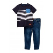 Crew Neck Tee & Jeans Set (Toddler Boys)