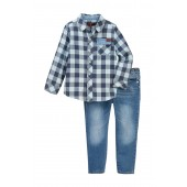 Button Up Shirt & Jeans Set (Toddler Boys)
