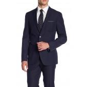 Blue Dotted Two Button Notch Lapel Slim Fit Suit Separates Jacket