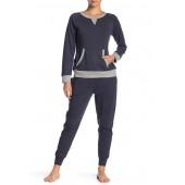 Heather Indigo Long Sleeve Sweatshirt & Sweatpants Set