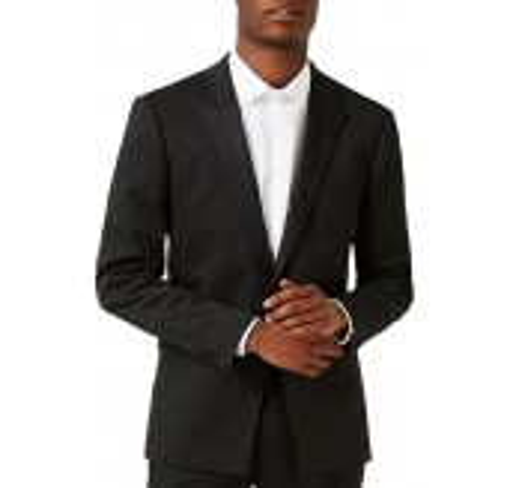 Skinny Fit Pin Dot Tuxedo Jacket
