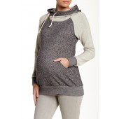 Mattie French Terry Asymmetrical Zip Hoodie (Maternity)
