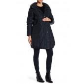 Minnie Hooded Faux Fur Trim Down Puffer Coat (Maternity)