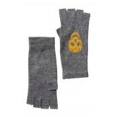 Cashmere Fingerless Skull Gloves
